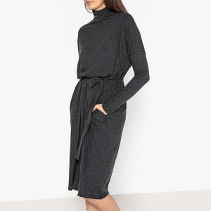 Платье-пуловер с ремешком и воротником-стойкой PIPOUN AMERICAN VINTAGE. Цвет: антрацит