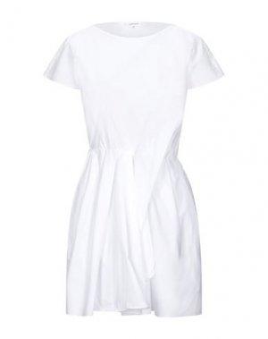 Короткое платье CARVEN. Цвет: белый