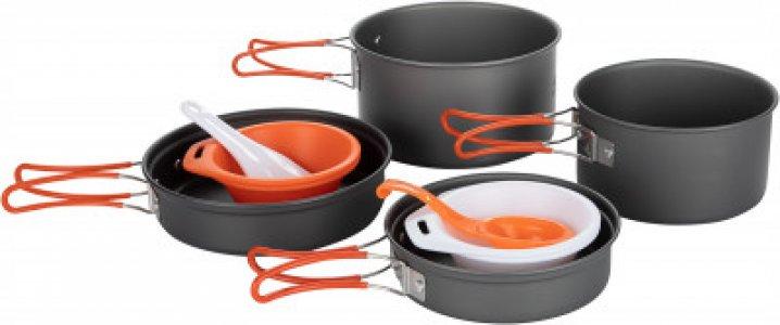 Набор посуды: 2 котелка, сковороды FMC-K7 Fire-Maple. Цвет: серый