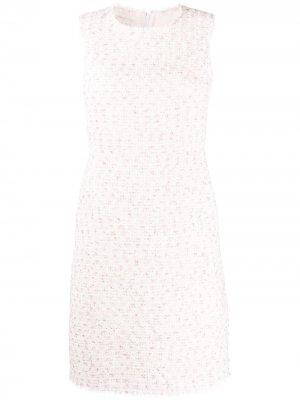 Короткое твидовое платье Giambattista Valli. Цвет: белый