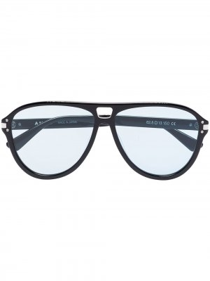 Солнцезащитные очки-авиаторы AMIRI. Цвет: черный