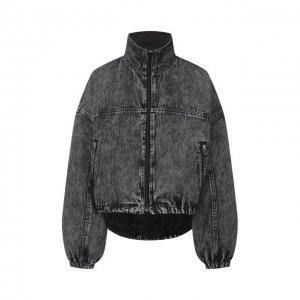 Джинсовая куртка Denim X Alexander Wang. Цвет: серый