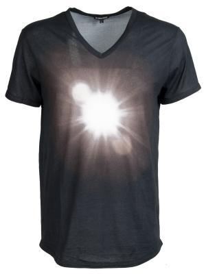 Хлопковая футболка Ann Demeulemeester. Цвет: разноцветный