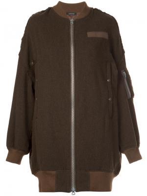 Куртка-бомбер мешковатого кроя R13. Цвет: зелёный
