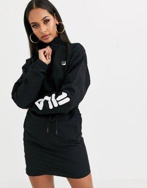 Нейлоновое спортивное платье с высоким воротом -Черный Fila