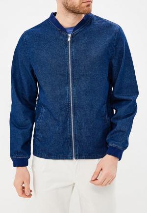 Куртка джинсовая Modis. Цвет: синий