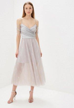 Платье Elena Andriadi. Цвет: серый