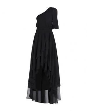 Длинное платье MANGANO. Цвет: черный