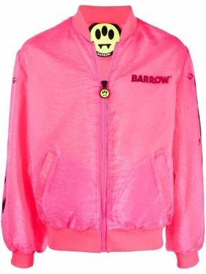 Бомбер с логотипом BARROW. Цвет: розовый