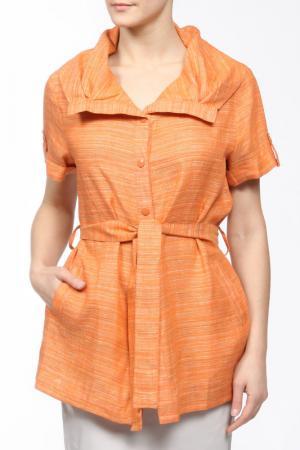 Блуза L-Design. Цвет: оранжевый