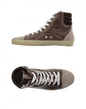 Высокие кеды и кроссовки ALLUMINIO. Цвет: темно-коричневый