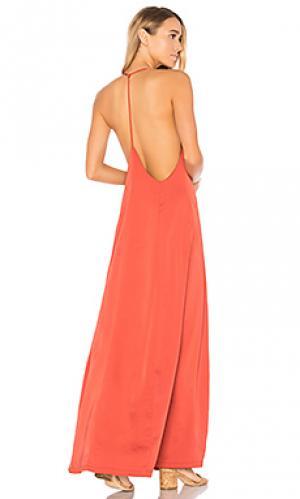 Атласное макси платье tess by the way.. Цвет: красный