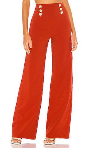 Широкие брюки milano Nookie. Цвет: ржавый