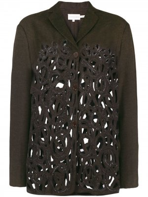 Облегающая куртка с прорезями Romeo Gigli Pre-Owned. Цвет: коричневый