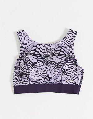 Фиолетовый бюстгальтер для груди большого размера с принтом тай-дай Wolf & Whistle