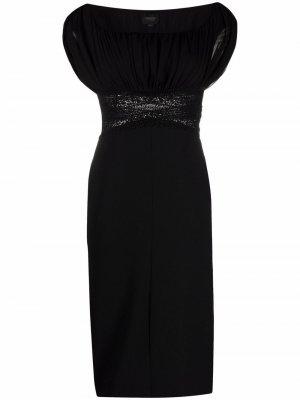 Платье с кружевом Giambattista Valli. Цвет: черный