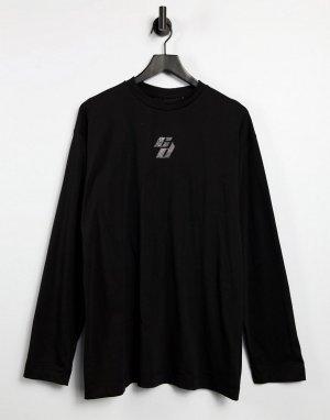 Угольно-серое платье-лонгслив с логотипом из стразов -Серый Criminal Damage