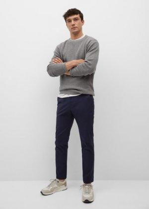 Укороченные брюки-чинос tapered - Prato Mango. Цвет: темно-синий