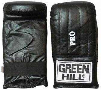 Перчатки снарядные Pro, размер 6 oz Green Hill. Цвет: черный