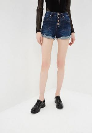 Шорты джинсовые One Teaspoon HARLETS HIGH WAIST. Цвет: синий