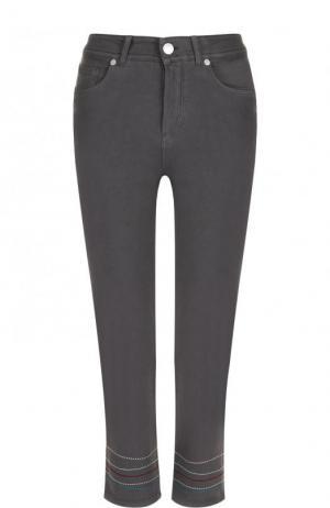 Укороченные джинсы с контрастной отделкой Loro Piana. Цвет: серый