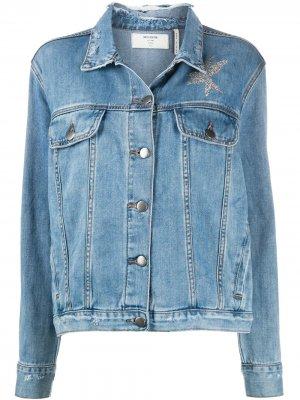 Джинсовая куртка La Femme с принтом One Teaspoon. Цвет: синий