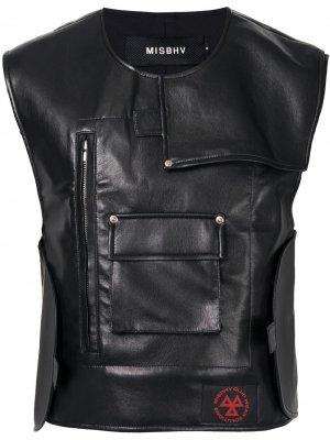 Жилет с карманами MISBHV. Цвет: черный