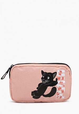 Сумка поясная PUMA Animals Waist Bag. Цвет: розовый