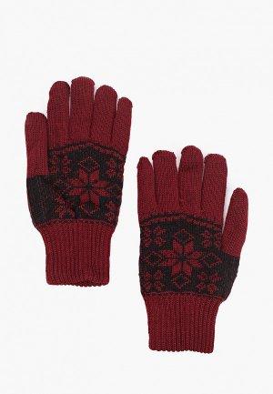 Перчатки Kaftan. Цвет: бордовый