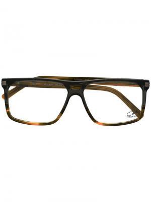 Очки в квадратной оправе Cazal. Цвет: коричневый