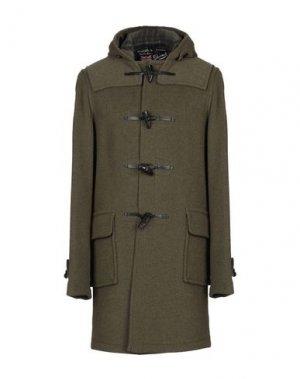 Пальто GLOVERALL. Цвет: зеленый-милитари