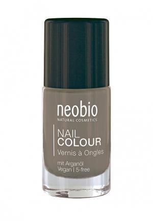 Лак для ногтей Neobio №11 5-FREE, с аргановым маслом. Нежно-Серый. Цвет: серый