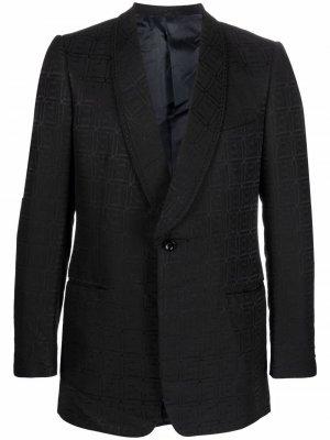 Однобортный жаккардовый пиджак 1960-х годов с узором Pierre Cardin Pre-Owned. Цвет: черный