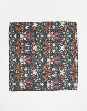 Платок для нагрудного кармана с неклассическим принтом Liberty-Многоцветный Gianni Feraud
