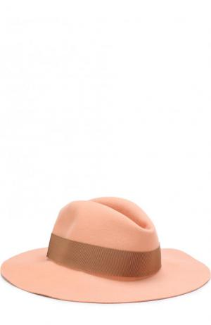 Фетровая шляпа с лентой Inverni. Цвет: розовый
