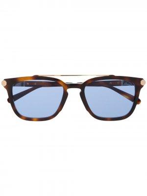 Солнцезащитные очки Brioni. Цвет: коричневый
