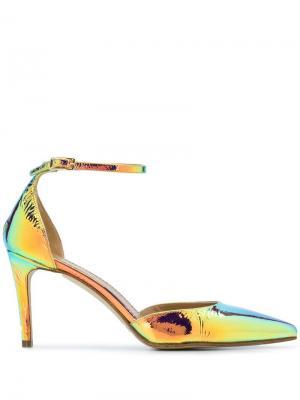 Туфли-лодочки с эффектом металлик Antonio Barbato. Цвет: металлик
