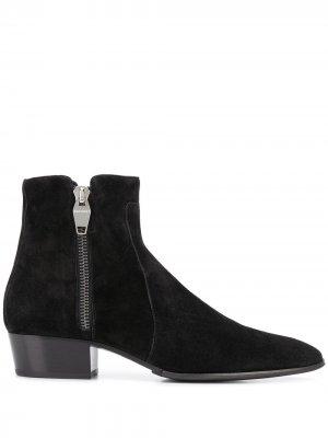 Ботинки на молнии Balmain. Цвет: черный