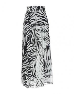 Длинная юбка FUZZI. Цвет: белый