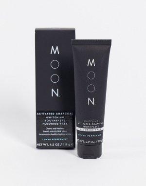 Отбеливающая зубная паста с активированным углем без фтора , 119 г-Бесцветный Moon