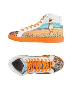 Высокие кеды и кроссовки AMERICAN COLLEGE. Цвет: оранжевый