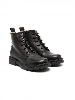 Ботинки на шнуровке Florens. Цвет: черный
