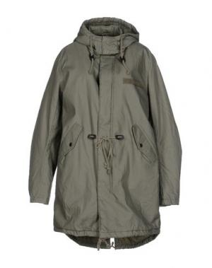 Пальто CHEAP MONDAY. Цвет: зеленый-милитари