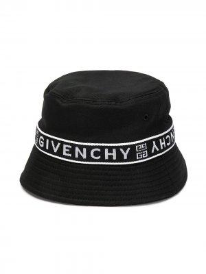 Панама с логотипом Givenchy Kids. Цвет: черный