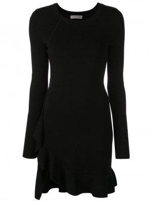 Платье мини с оборками Altuzarra. Цвет: черный