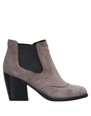 Полусапоги и высокие ботинки ALBERTO FERMANI. Цвет: голубиный серый