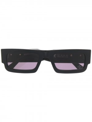 Солнцезащитные очки с принтом Wings Marcelo Burlon County of Milan. Цвет: черный