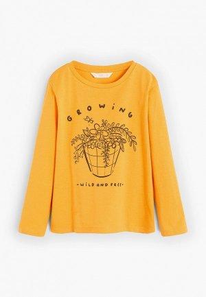 Лонгслив Mango Kids - IDEA. Цвет: желтый