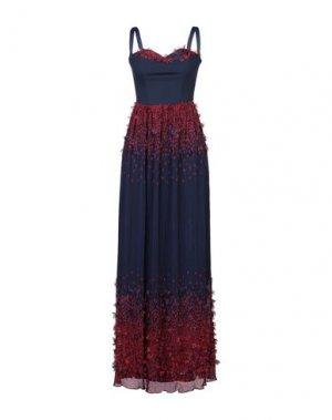Длинное платье ISABEL GARCIA. Цвет: темно-синий
