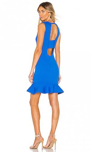 Мини платье lynn Parker. Цвет: синий